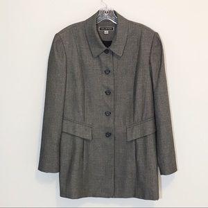 Halston Vintage Long Oversized Blazer Jacket